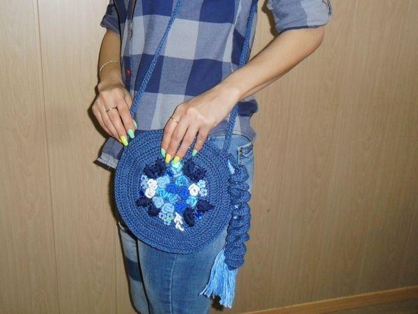 5a681b9a2155 Летняя вязаная сумка с вышивкой – Ярмарка Мастеров – Вязание и ...